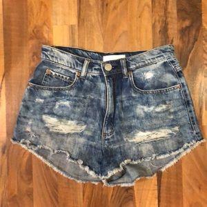 🌟5 for $20🌟 High waisted denim shorts
